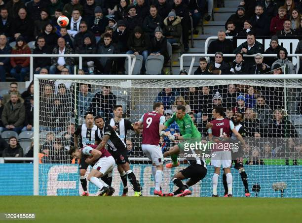 Newcastle United Goalkeeper Martin Dúbravka during the Premier League match between Newcastle United and Burnley FC at St James Park on February 29...