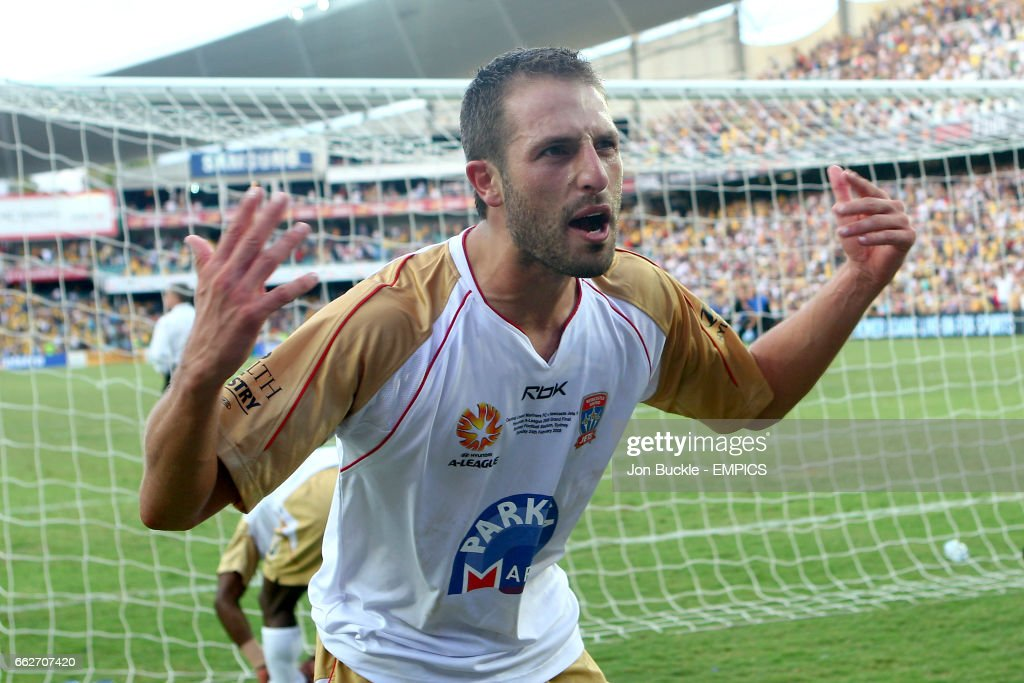 Newcastle United Jets' Andrew Durante celebrates victory