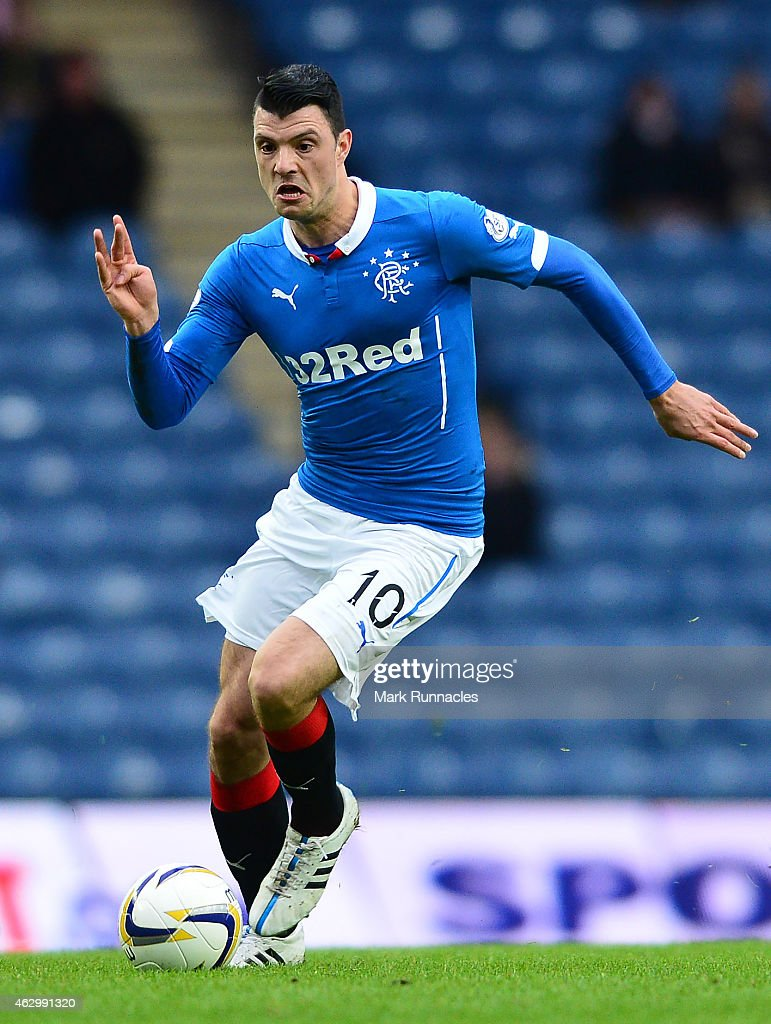 Newcastle United loan player Haris Vuckic of Rangers in action during the William Hill Scottish Cup Fifth Round match between Rangers and Raith Rovers on February 8, 2015 in Glasgow Scotland.