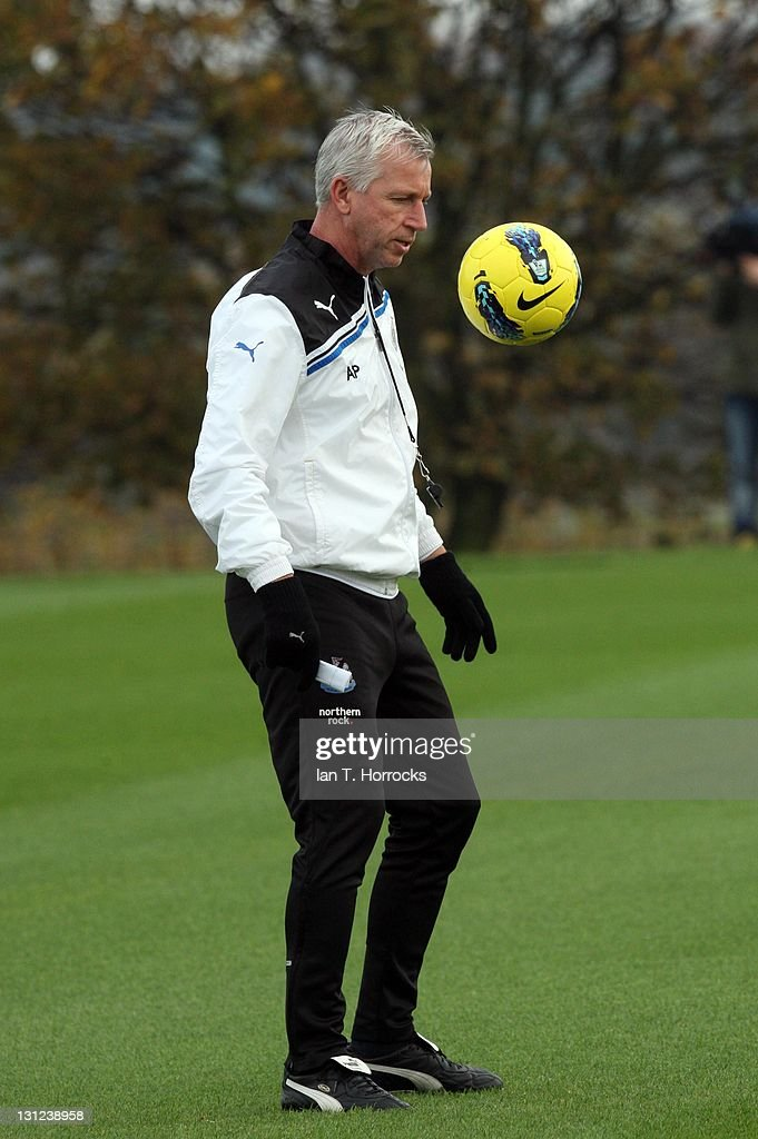 Newcastle United manager Alan Pardew looks on during a Newcastle United Training session at The Little Benton Training Ground on November 03, 2011 in Newcastle, United Kingdom.
