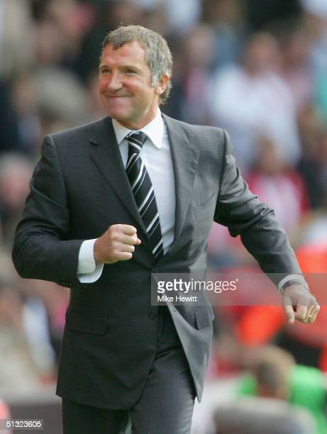 Newcastle United manager Graeme Souness looks on during the Barclays Premiership match between Southampton and Newcastle United on September 19 2004...