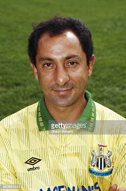 Newcastle United manager Osvaldo Ardiles looks on during the pre season photocall for 1991/92 season at St James' Park Newcastle England