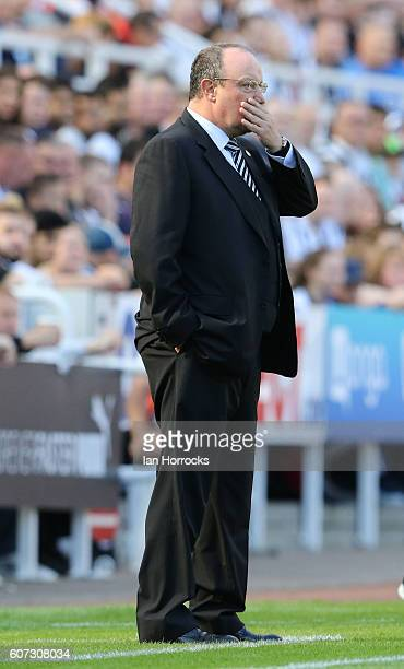 MatzNEWCASTLE UPON TYNE ENGLAND SEPTEMBER 17 Newcastle United manager Raf Benitez during the Sky Bet Championship match between Newcastle United and...