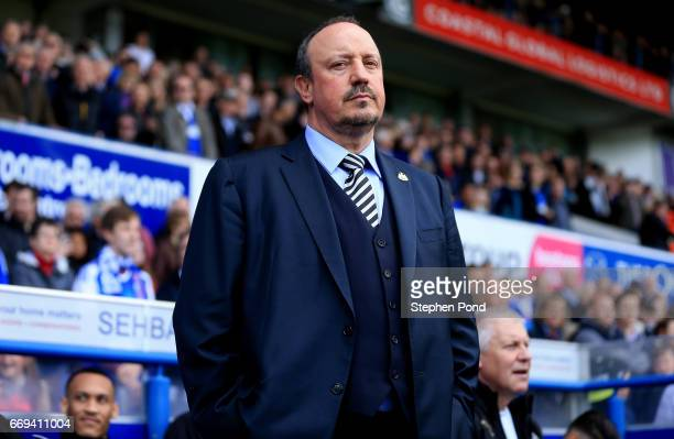 Newcastle United Manager Rafa Benitez during the Sky Bet Championship match between Ipswich Town and Newcastle United at Portman Road on April 17...