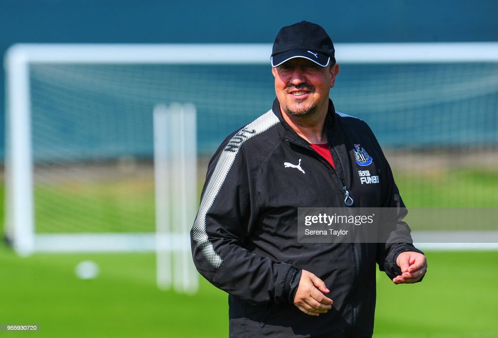 Newcastle United Manager Rafael Benitez during the Newcastle United Training Session at the Newcastle United Training Centre on May 8, 2018, in Newcastle upon Tyne, England.
