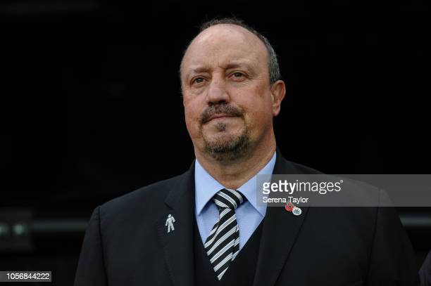 Newcastle United Manager Rafael Benitez during the Premier League Match between Newcastle United and Watford FC at StJames Park on November 3 in...