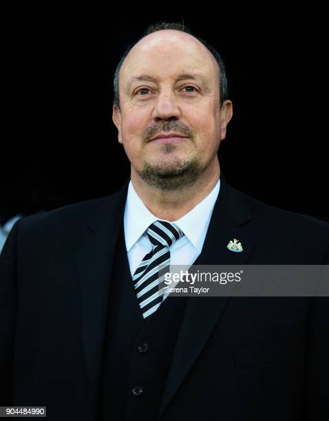 Newcastle United Manager Rafael Benitez during the Premier League match between Newcastle United and Swansea City at StJames' Park on January 13 in...
