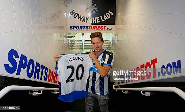 Newcastle United new signing Florian Thauvin pictured at St James' Park on August 19 2015 in Newcastle England