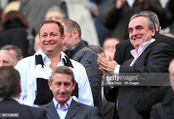 Newcastle United owner Mike Ashley during the Barclays Premier League match at the Sports Direct Arena Newcastle