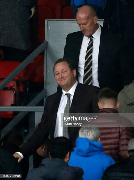 Newcastle United owner Mike Ashley is seen in the stands during the Premier League match between Crystal Palace and Newcastle United at Selhurst Park...