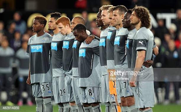 Newcastle United players pay tribute to the death of fans John Alder and Liam Sweeney who were killed in the Malaysia Airlines crash during the...