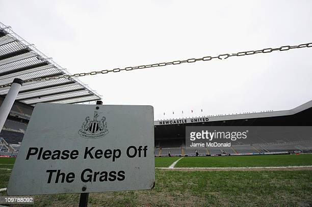 Newcastle United sign is seen at St James' Park, home of Newcastle United Football Club on March 5, 2011 in Newcastle, England.