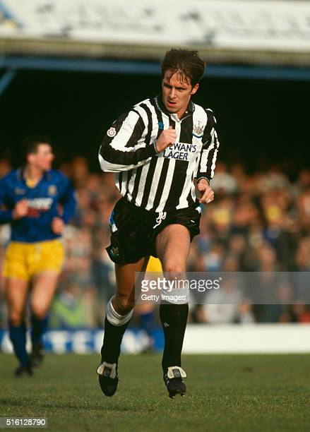 Newcastle United striker David 'Ned' Kelly in action during a League Division Two match against Southend United at Roots Hall on January 1 1992 in...