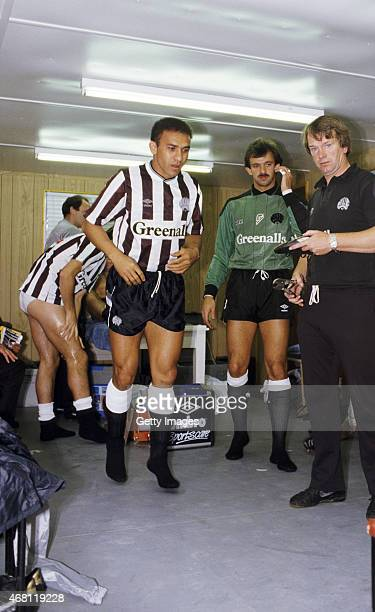 Newcastle United striker Francisco Ernani Lima da Silva better known as Mirandinha prepares in the temporary portacabin dressing room for his home...