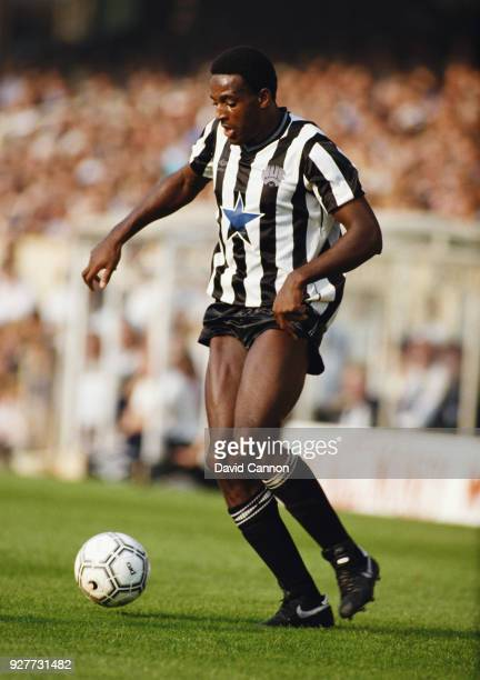 Newcastle United striker Tony Cunningham in action during a First Division match against Arsenal at Highbury on September 28 1985 in London England