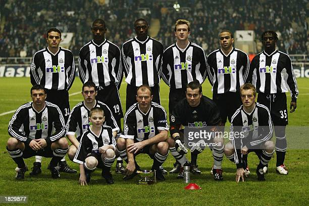 Newcastle United team group taken before the UEFA Champions League Second Phase Group A match between Newcastle United and Bayer Leverkusen held on...