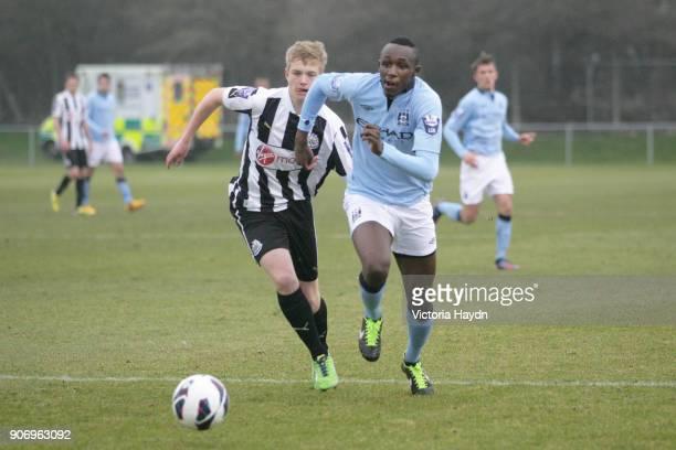 Newcastle United U21's v Manchester City U21's Whitley Park in Benton Manchester City's Seko Fofana