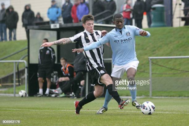 Newcastle United U21's v Manchester City U21's Whitley Park in Benton Manchester City's Gregory Leigh