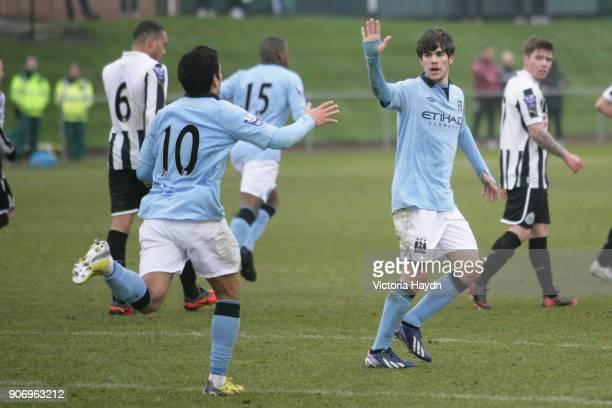 Newcastle United U21's v Manchester City U21's Whitley Park in Benton Manchester City's Jose Angel Pozo