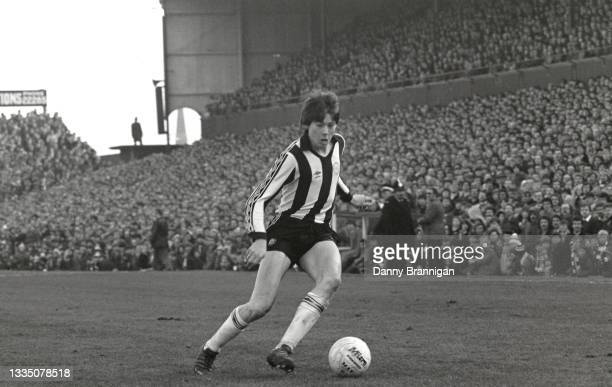 Newcastle United winger Chris Waddle in action during the FA Cup 5th Round match against Exeter City at St James' Park on February 14th, 1981 in...