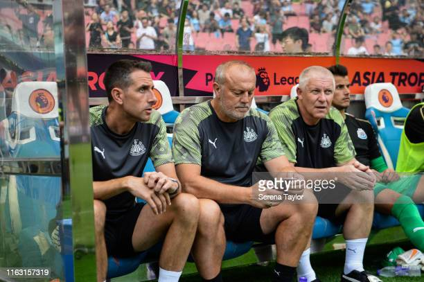 Newcastle United's Academy Head of Coaching Ben Dawson Newcastle United's Head of Under 23's Coach Neil Redfearn and Newcastle United Goalkeeping...