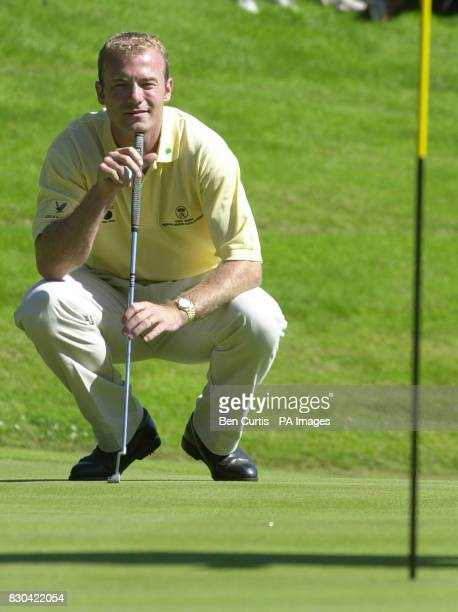 Newcastle United's Alan Shearer during the Roxburghe Challenge 2000 at the Roxburgh Golf Course near Kelso The Duke of York joined the former England...