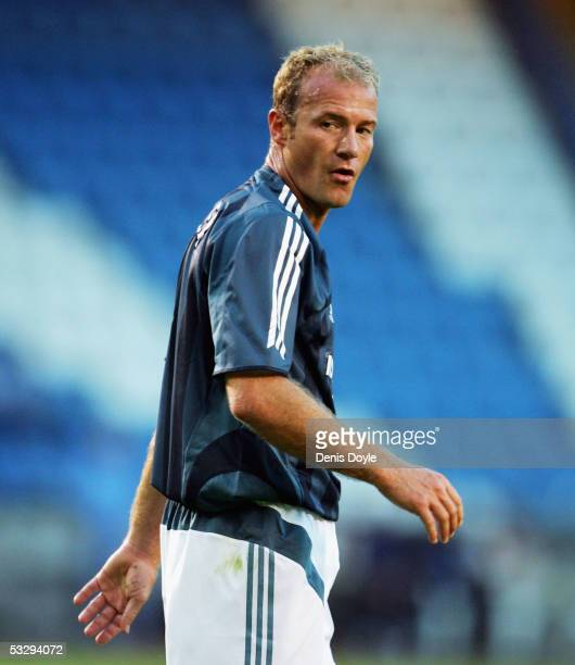 Newcastle United's Alan Shearer in action during an Intertoto semi-final, 1st leg match, between Deportivo La Coruna and Newcastle United on July 27,...