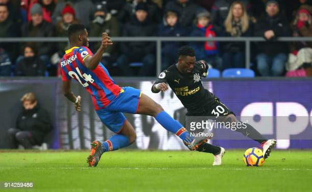Newcastle United's Christian Atsu during Premier League match between Crystal Palace and Newcastle United at Selhurst Park Stadium London England on...