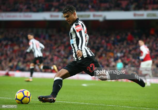Newcastle United's DeAndre Yedlin during Premier League match between Arsenal and Newcastle United at The Emirates London 16 Dec 2017