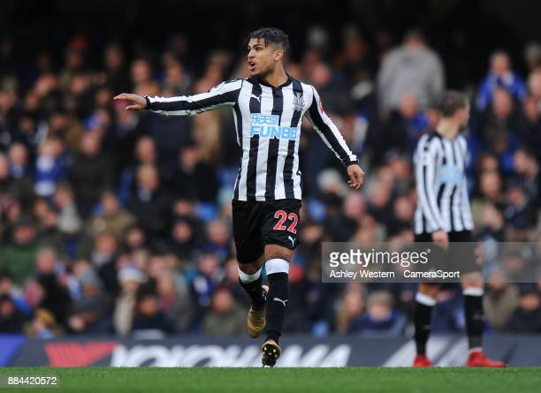 Newcastle United's DeAndre Yedlin in action during the Premier League match between Chelsea and Newcastle United at Stamford Bridge on December 2...