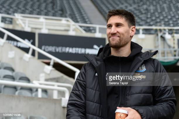 Newcastle United's Federico Fernandez arrives for the Premier League Match between Newcastle United and AFC Bournemouth at StJames' Park on November...