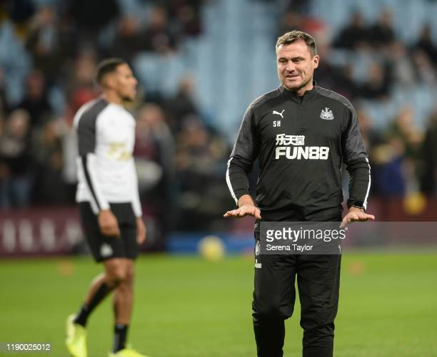 Newcastle Uniteds First Team Coach Steve Harper during the Premier League match between Aston Villa and Newcastle United at Villa Park on November 25...