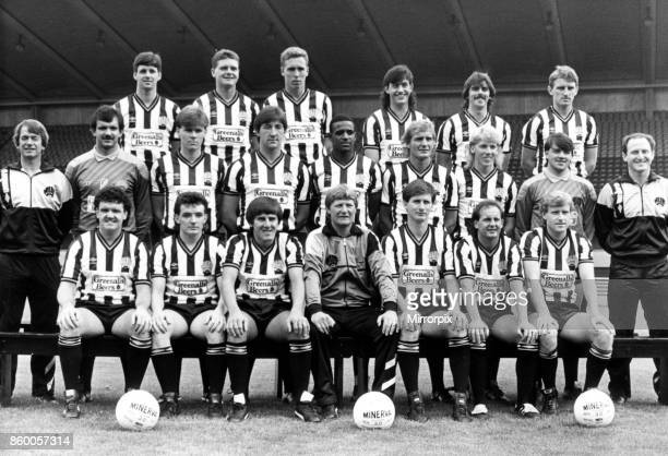 Newcastle United's first team squad pictured in their new strips at the St James's Park Press day areBack row Kenny Wharton Paul Gascoigne Brian...