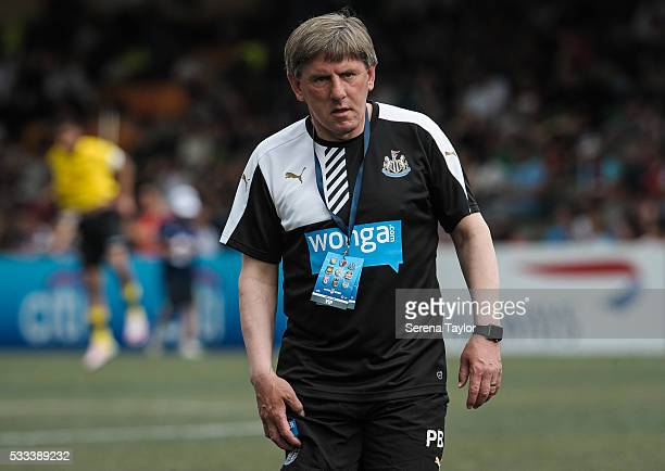 Newcastle United's football development manager Peter Beardsley during the Hong Kong Football Club Citi Soccer Sevens Tournament shield Semi Final...