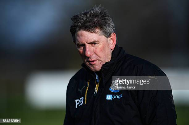 Newcastle United's Football development manager Peter Beardsley during a friendly match between Newcastle United U23 and Kilmarnock at the Newcastle...
