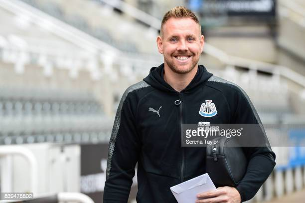 Newcastle United's Goalkeeper Rob Elliot arrives prior to kick off of the Premier League Match between Newcastle United and West Ham United at...