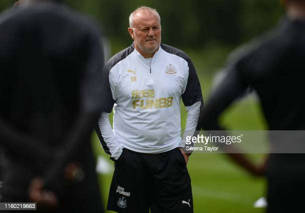 Newcastle United's Head of Under 23's Coach Neil Redfearn during the Newcastle United Training session at the Newcastle United Training Centre on...