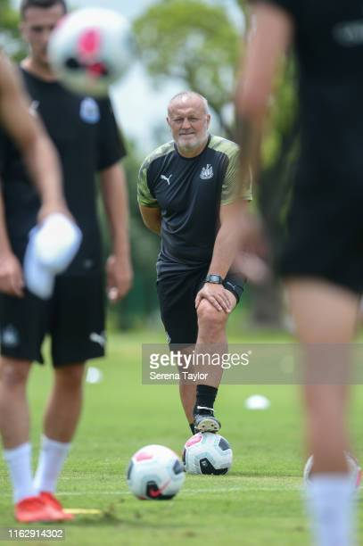 Newcastle United's Head of Under 23's Coach Neil Redfearn during the Newcastle United Training Session at the Wellington College on July 19 2019 in...