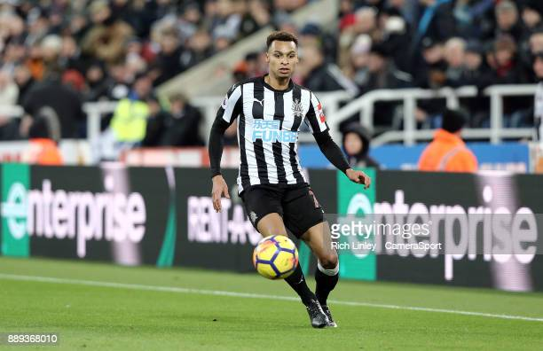 Newcastle United's Jacob Murphy during the Premier League match between Newcastle United and Leicester City at St James Park on December 9 2017 in...