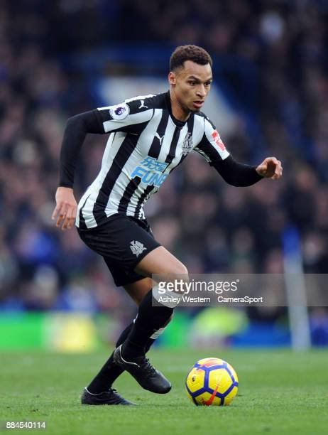Newcastle United's Jacob Murphy in action during the Premier League match between Chelsea and Newcastle United at Stamford Bridge on December 2 2017...
