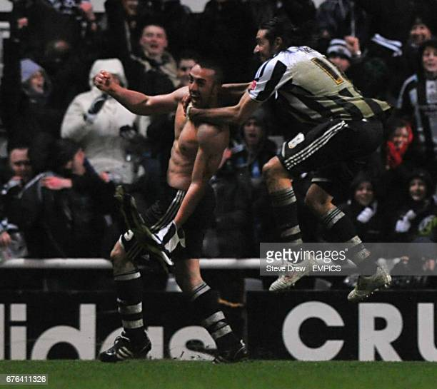 Newcastle United's Jose Enrique celebrates scoring his sides second goal of the game