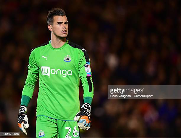 Newcastle United's Karl Darlow during the Sky Bet Championship match between Barnsley and Newcastle United at Oakwell Stadium on October 18 2016 in...