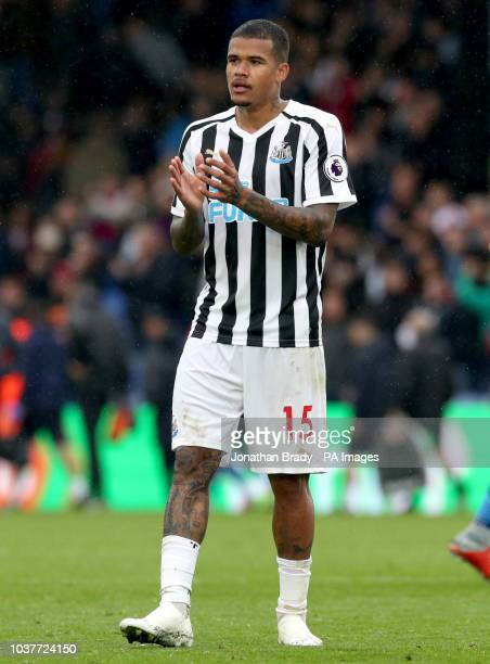 Newcastle United's Kenedy applauds the fans at the end of the Premier League match at Selhurst Park London
