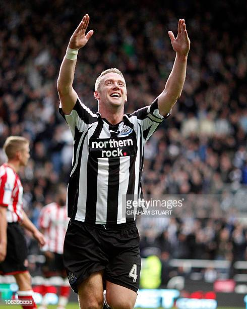 Newcastle United's Kevin Nolan celebrates scoring his 3rd goal against Sunderland during an English FA Premier League football match at St James'...