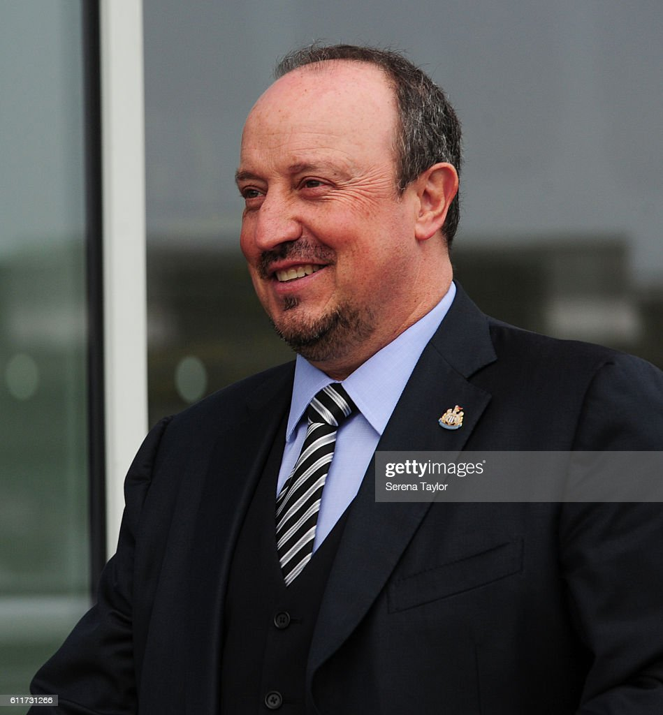 Newcastle United's Manager Rafael Benitez arrives prior to kick off of the Sky Bet Championship match between Rotherham United and Newcastle United at The New York Stadium on October 1, 2016 in Rotherham, England.
