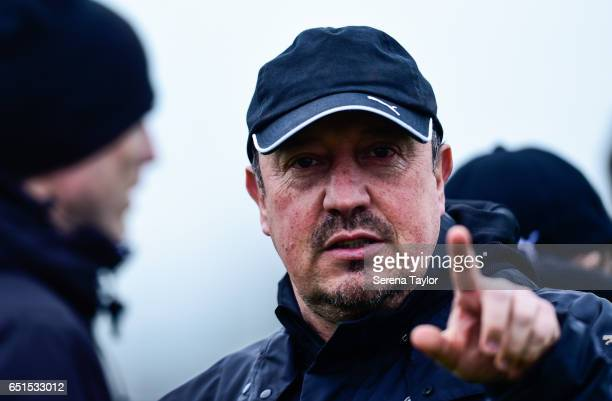 Newcastle United's Manager Rafael Benitez during the Newcastle United Training Session at The Newcastle United Training Centre on March 10 2017 in...