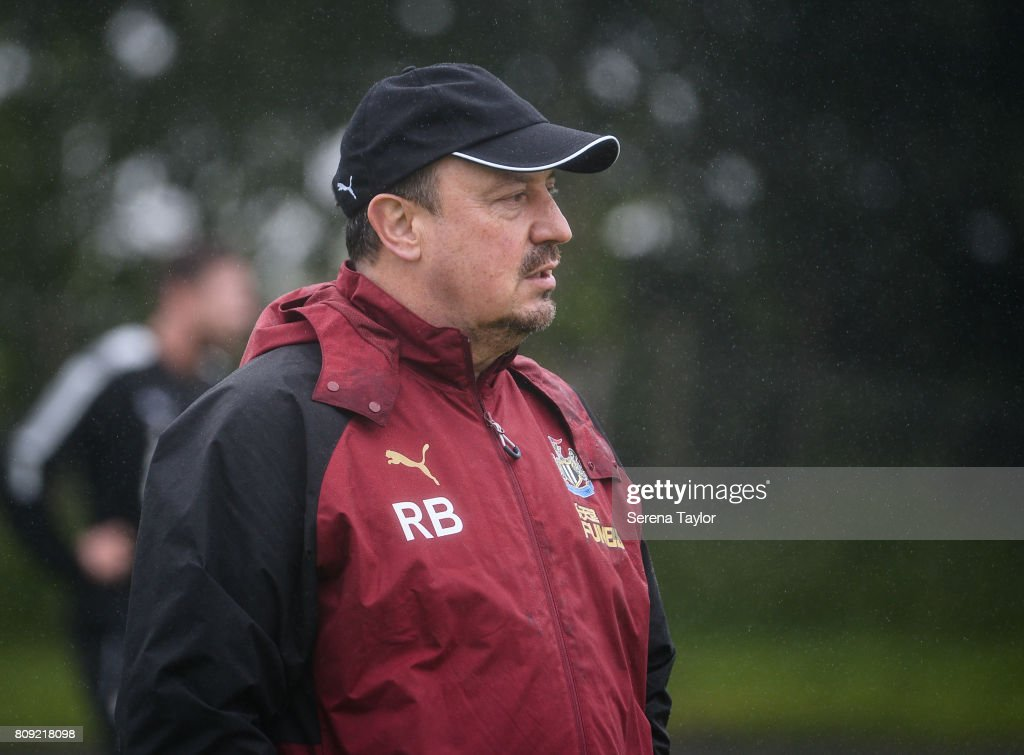 Newcastle Unitedâs Manager Rafael Benitez during the Newcastle United Training session at the Newcastle United Training Centre on July 5, 2017, in Newcastle upon Tyne, England.