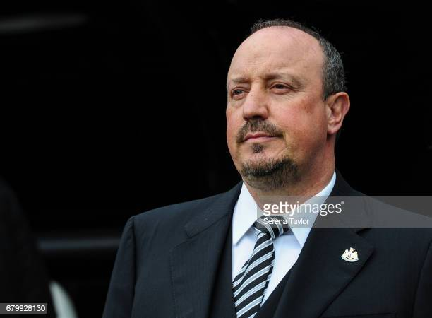 Newcastle Unitedâs Manager Rafael Benitez during the Sky Bet Championship Match between Newcastle United and Barnsley at StJames' Park on May 7 2017...