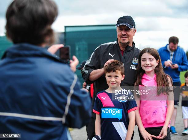 Newcastle United's Manager Rafael Benitez poses for photos during the Newcastle United Training session at Carton House on July 21 in Maynooth Ireland