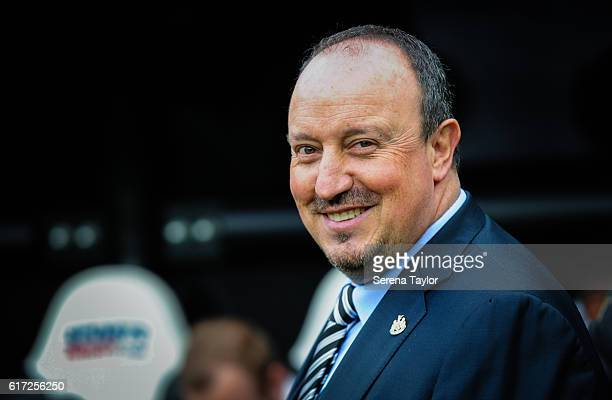 Newcastle Unitedâs Manager Rafael Benitez smiles from the dugouts during the Sky Bet Championship Match between Newcastle United and Ipswich Town at...